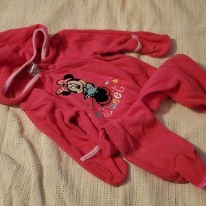 3/6 Disney baby fleece hooded zip up coverall